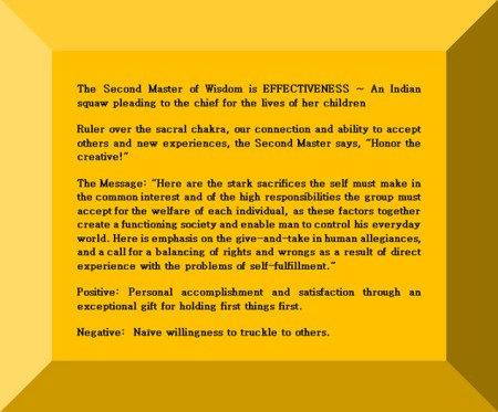 Click Gem to expand ~ Scorpio 29° An Indian squaw pleading to the chief for the lives of her children.