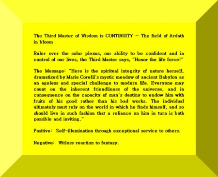 Click Gem to expand ~ Aquarius 30° The field of Ardath in bloom.